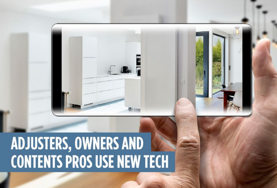 Adjusters, Owners and Contents Valet use with New Tech