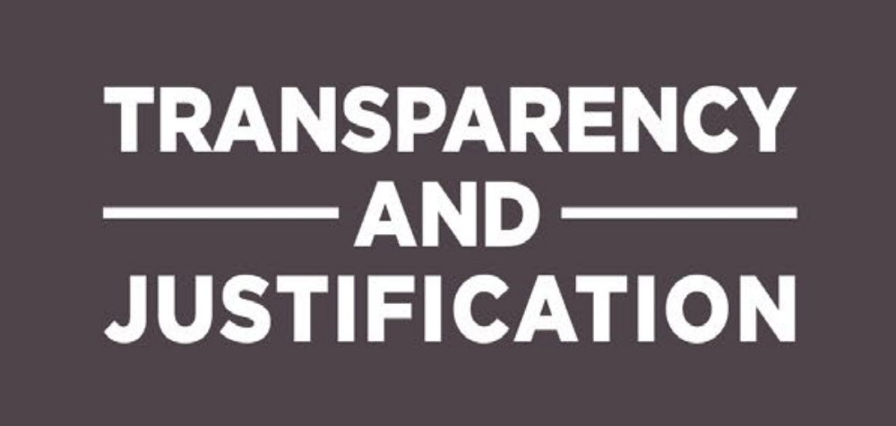 Transparency and Justification