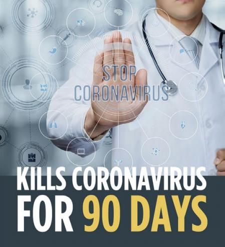 Kills Coronavirus for 90 Days