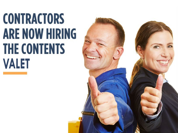 Contractors are now Hiring The Contents Valet